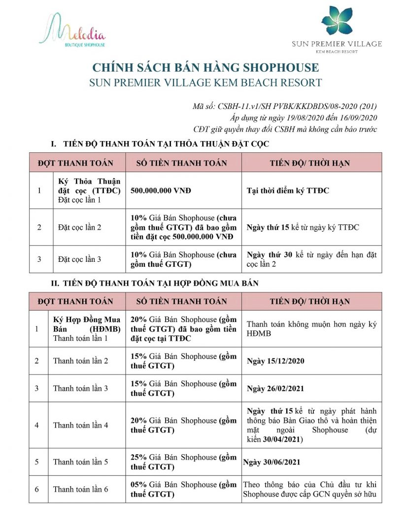 chinh-sach-ban-hang-Melodia Boutique Shophouse