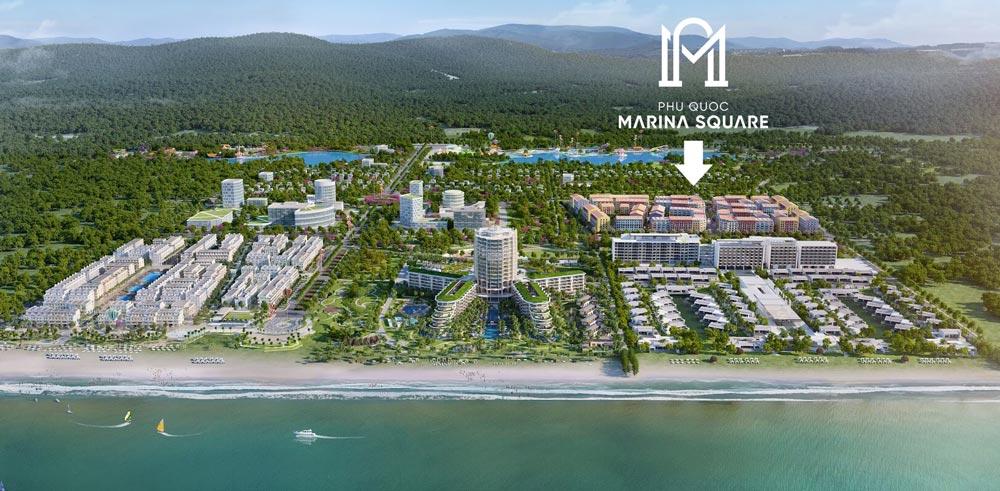 vị trí phú quốc marina square trong tổ hợp bim group