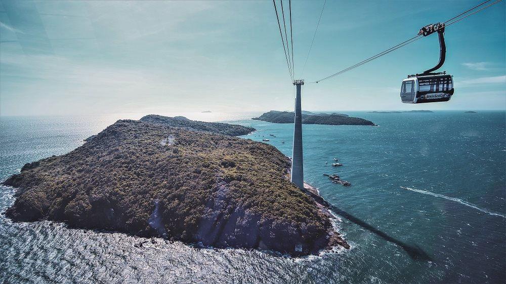 Cáp treo Hòn Thơm - Cáp treo 3 dây vượt biển dài nhất Thế giới