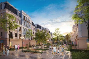 Mỗi căn shophouse được xây dựng trên diện tích 105m2, cao 5 tầng, diện tích sử dụng 545m2.