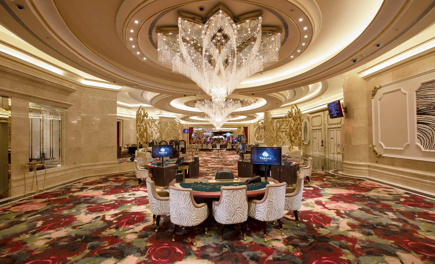 Hệ thống nội thất và trang thiết bị tại Corona Casino được nhập khẩu toàn bộ