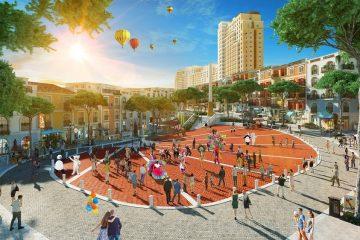 Những không gian công cộng mang cảm hứng văn hóa châu Âu đáp ứng nhu cầu vui chơi, giải trí của cư dân