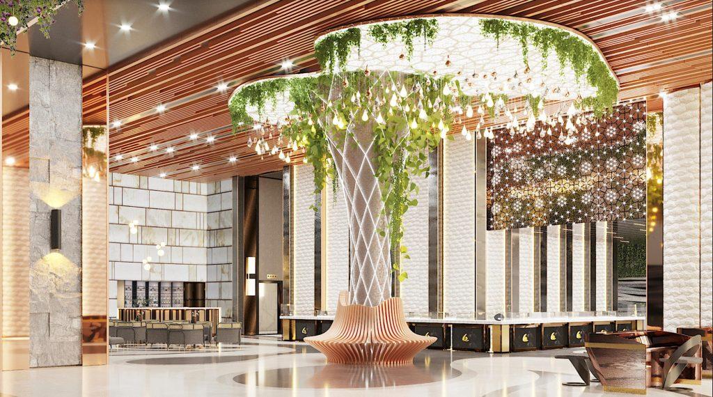 Phối cảnh Sảnh Long Beach Resort đẳng cấp hàng đầu Trung Tâm Dương Đông, TP Phú Quốc