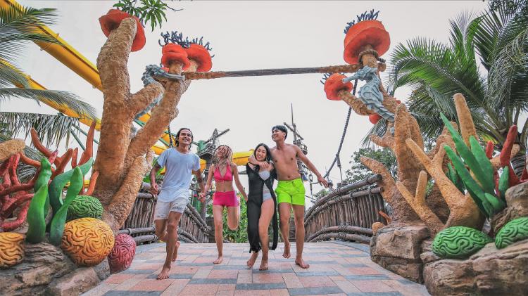 Du khách được tận hưởng một chuyến đi ắp đầy trải nghiệm vui chơi giải trí tại Tổ hợp Sun World Hon Thom Nature Park trên đảo Hòn Thơm