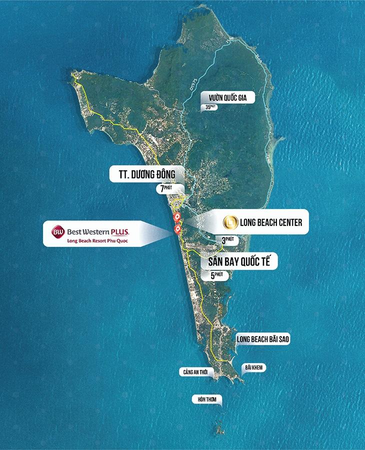 Vị trí Long Beach Resort Phú Quốc