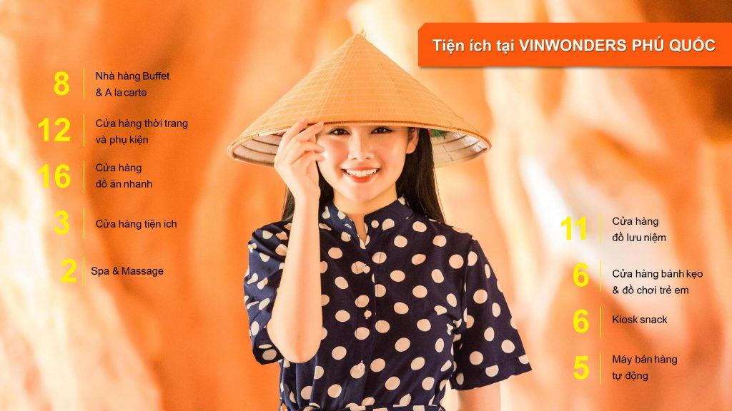 Các tiện ích tại Vinwonders Phú Quốc