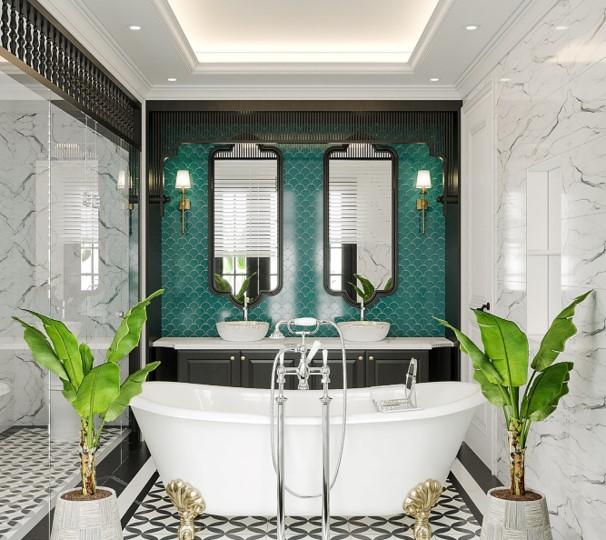 phòng tắm biệt thự đơn lập sun tropical village