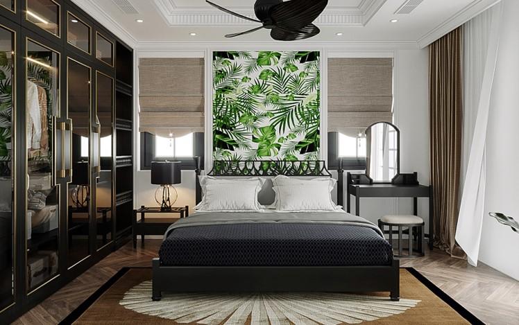phòng ngủ master biệt thự đơn lập sun tropical