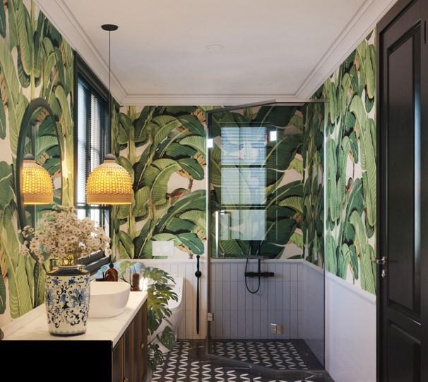 phòng tắm biệt thự tứ lập sun tropical village phú quốc