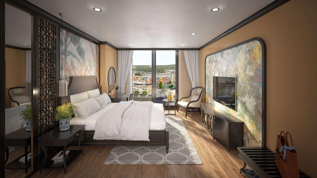 Mẫu thiết kế phòng ngủ cho mini hotel grand world Phú Quốc