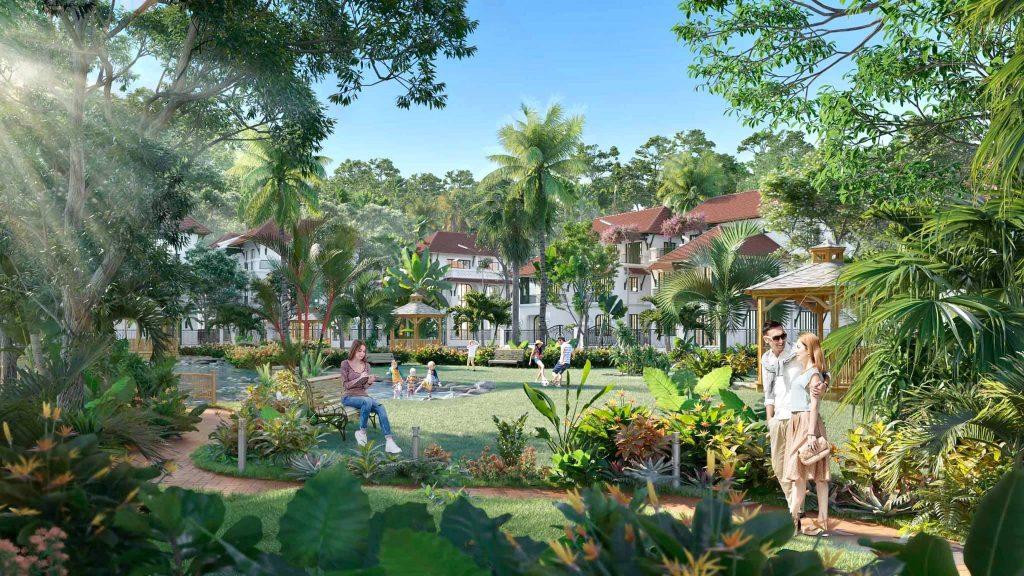 công viên tại biệt thự sun tropical