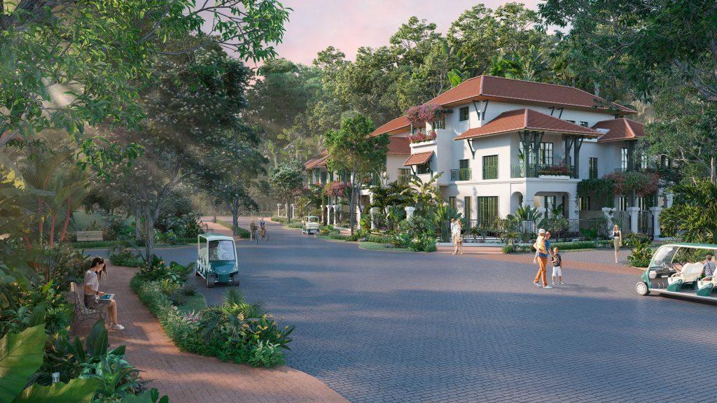 đường nội khu tại biệt thự sun tropical