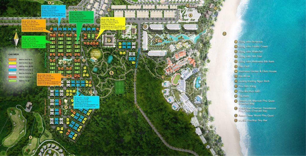 giá bán biệt thự sun tropical village phú quốc tháng 10/2021
